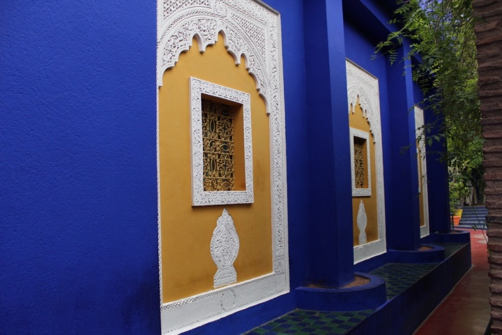 El azul Majorelle es un color registrado y presente en los jardines