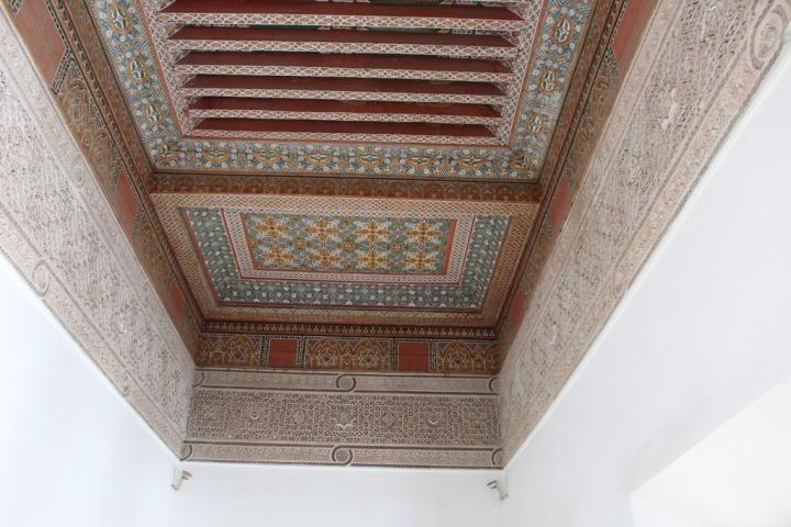 Los techos del palacio están igualmente decorados