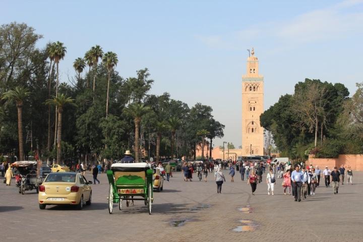 Minarete de la Koutobia desde Jemaa el Fna