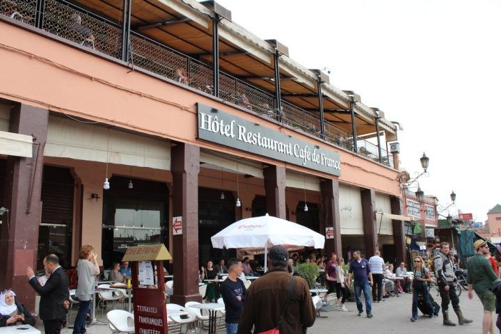 Café de Francia en Jamaa El Fna